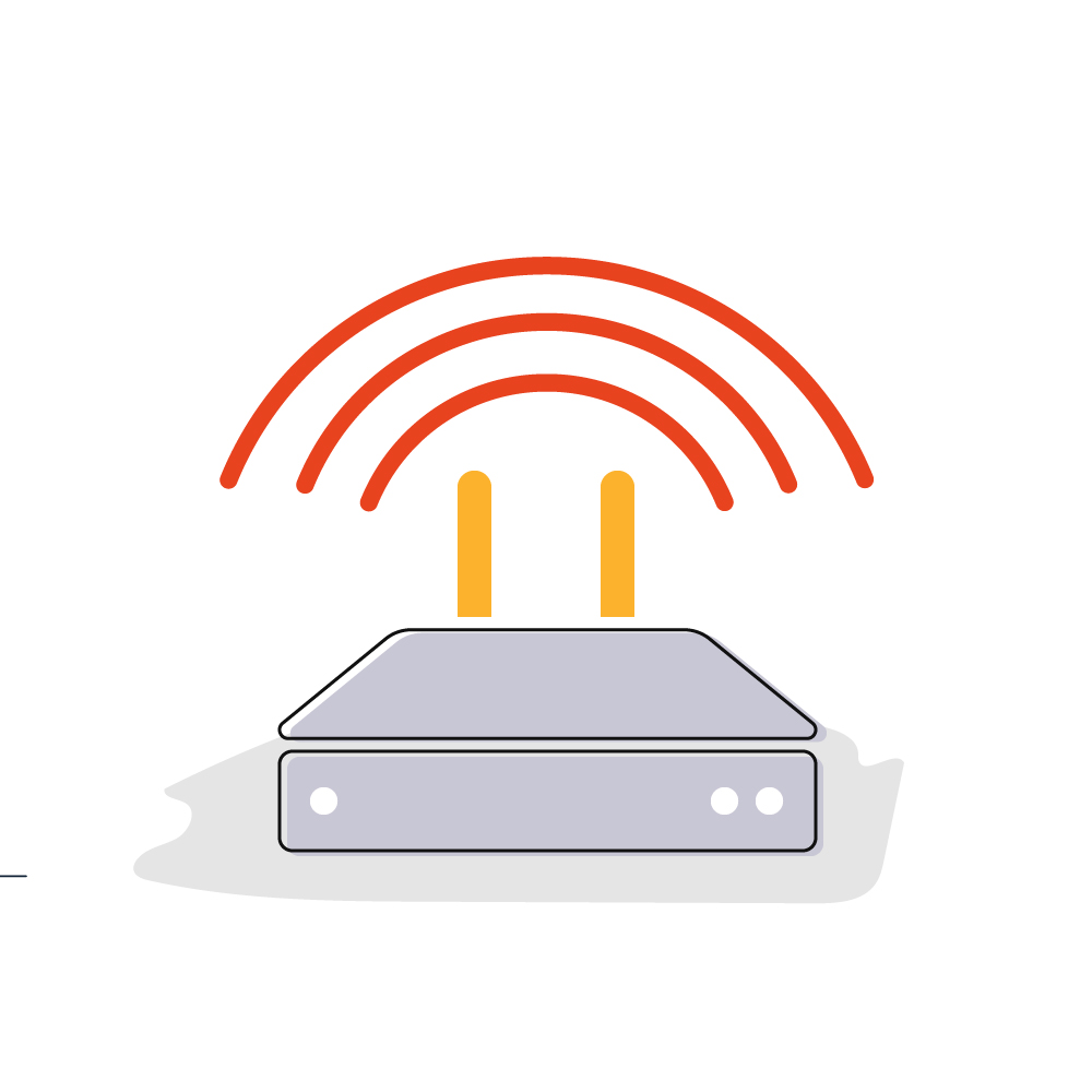 Wi-Fi works using the radio waves